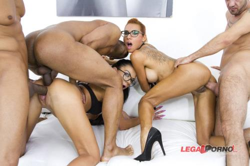 Inga Devil, Rose Valerie - Horny sluts Inga Devil Rose Valerie anal  DP mini orgy with 3 guys SZ1071 (HD)