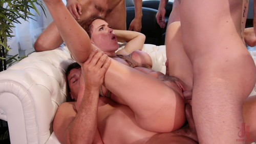 Krissy Lynn Horny at Home Gets Tied Up and Gangbanged