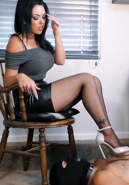 Pantyhose Office footstool