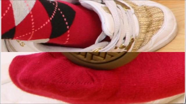 Feet in sox - closer look (70's disco diaporama-style mv)