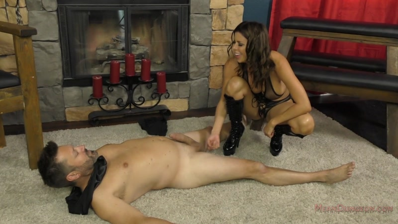 Pegged by mom with her black dildo