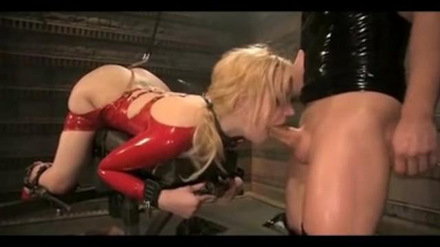 Latex wife gets throat fucked hardcore