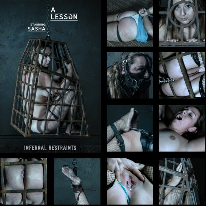 A Lesson - Disobedience is rewarded with torment for Sasha. and Sasha 2019 [SD 850x480] [895 MB] (INFERNAL RESTRAINTS)