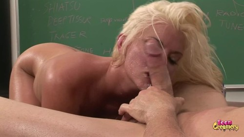 Blonde pawh milf has massage turn into taking huge cock and facialed