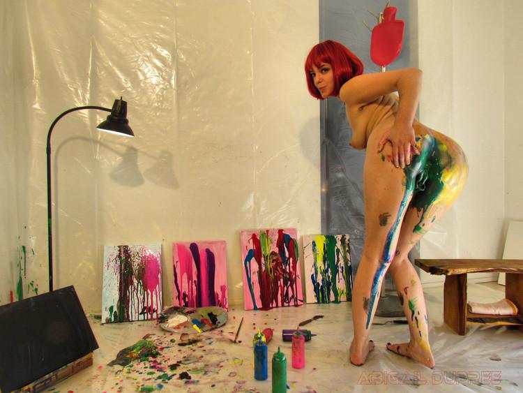 AbigailDupree - Anal Poop Painting
