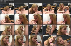Petite Blonde Gives Great Blowjob