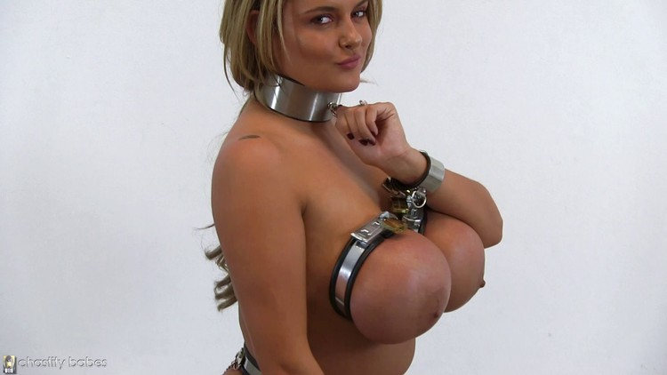 Slut With Big Tits Locked In Filthy Small Cell Bound With Hands