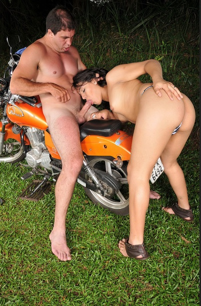 Paulo Takes Barbara For A Ride In the Woods