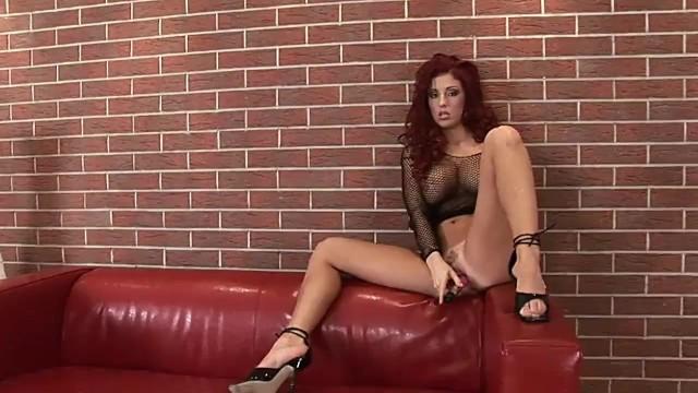 Ashley robbins and her black dildo
