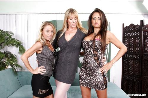 Porn Stars - 23 three stacked milfs want to prove themselves the biggest slut (SD)