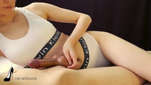 Teen Mistress Teases Cock Handjob. she Loves Femdom and Denial him Orgasm!