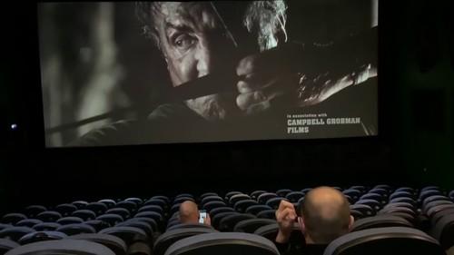 In the cinema Russian blonde