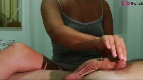 Sweet torture with pulsating cock