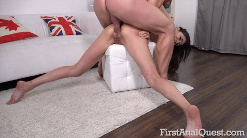 Polina Sweet - 565 Skinny Russian Brunette Gets Her First Gaping Anal! (09.10.2019)