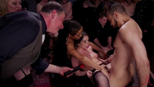 October 11, 2019 - Aiden Starr, Maestro Stefanos, Joseline Kelly, Donny Sins, Kira Noir - Slutty Teen Trained to Serve Orgy by Submissive Anal Queen Kira Noir