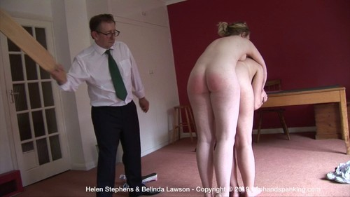 The Institute – ZS - Stripped naked and horsed on Belinda's back, Helen is paddled at The Institute! - October 11, 2019