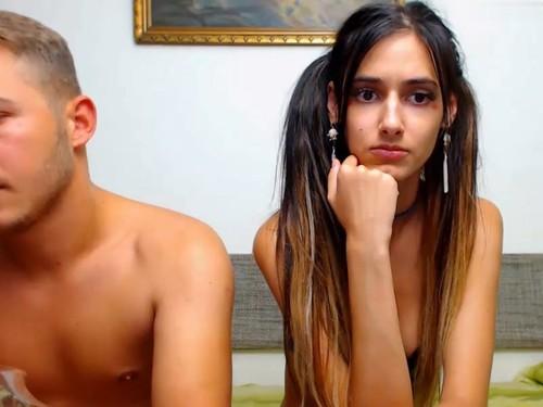 Skinny babe Sasha with Boyfriend