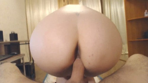 Tiny tits blonde gives blowjob and riding her boyfriend