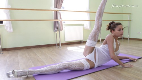 Flexible atletic young girl