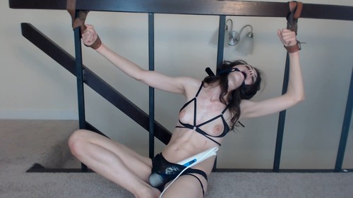 Bound Orgasm and Swallow