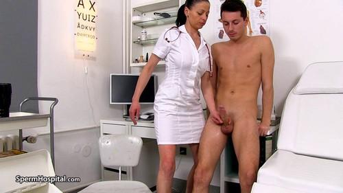 Bossy Head Nurse MILF Renate Handjob Male