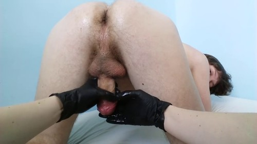 Prostate massage and milking cock