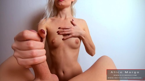 Alice Margo - POV milking cock with your cum on my hands