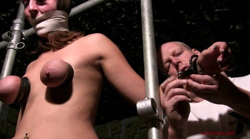 Breast Punishment and Forced Orgasm for sexy Saskia