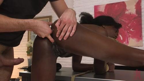 ebony bondage anal threesome